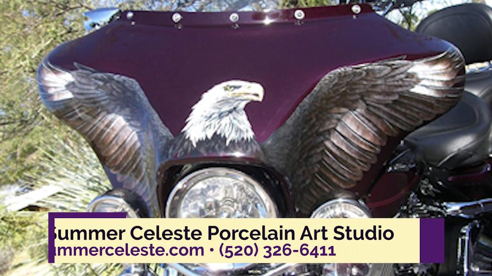 Tile Artist in Tucson AZ, Summer Celeste Porcelain Art Studio