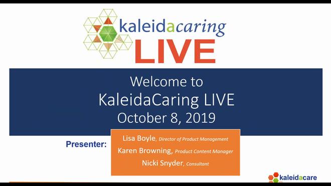 KaleidaCaring LIVE 2019-10