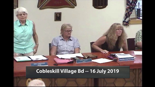 Cobleskill Village Bd -16 July 2019
