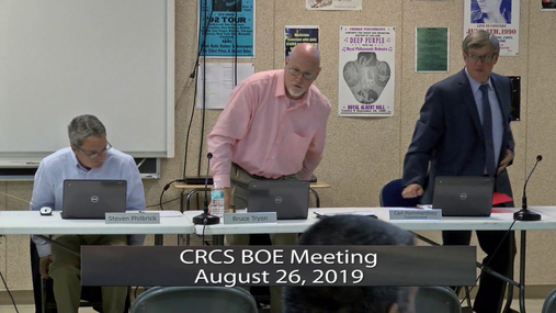 CRCS BOE -- August 26, 2019