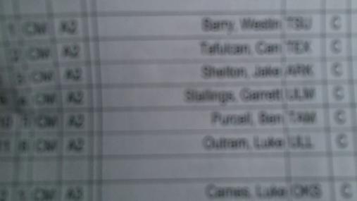Garrett Stallings CM Round 1 Pass 1