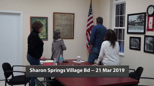 Sharon Springs Village Bd -- 21 Mar 2019