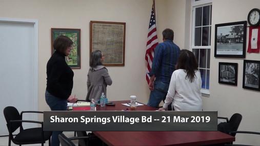 Sharon Springs Village Bd -- 21 Mar 2019