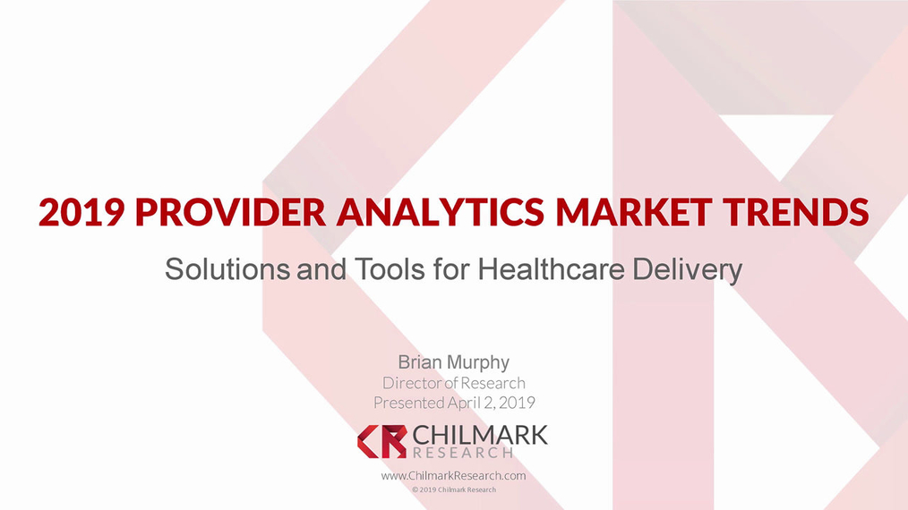 2019 Provider Analytics Market Trends