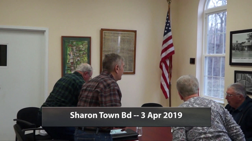 Sharon Town Bd -- 3 Apr 2019
