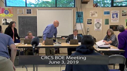 CRCS BOE -- June 3, 2019