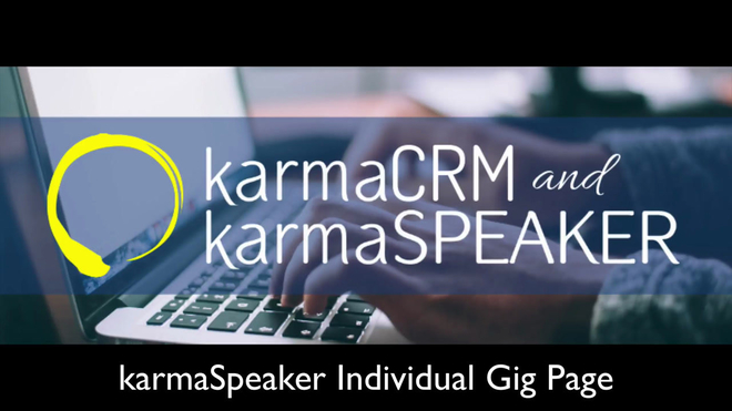 Overview of the Individual Gig Page in karmaSpeaker