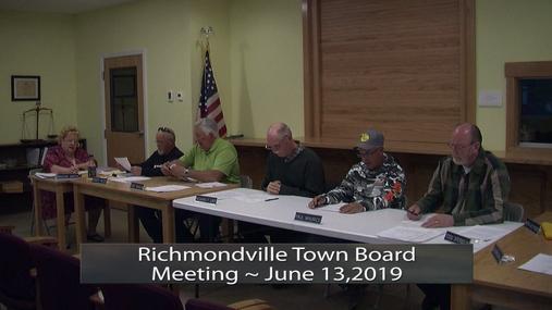 Richmondville Town Board -- June 13, 2019