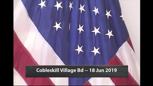 Cobleskill Village Bd -- 18 Jun 2019