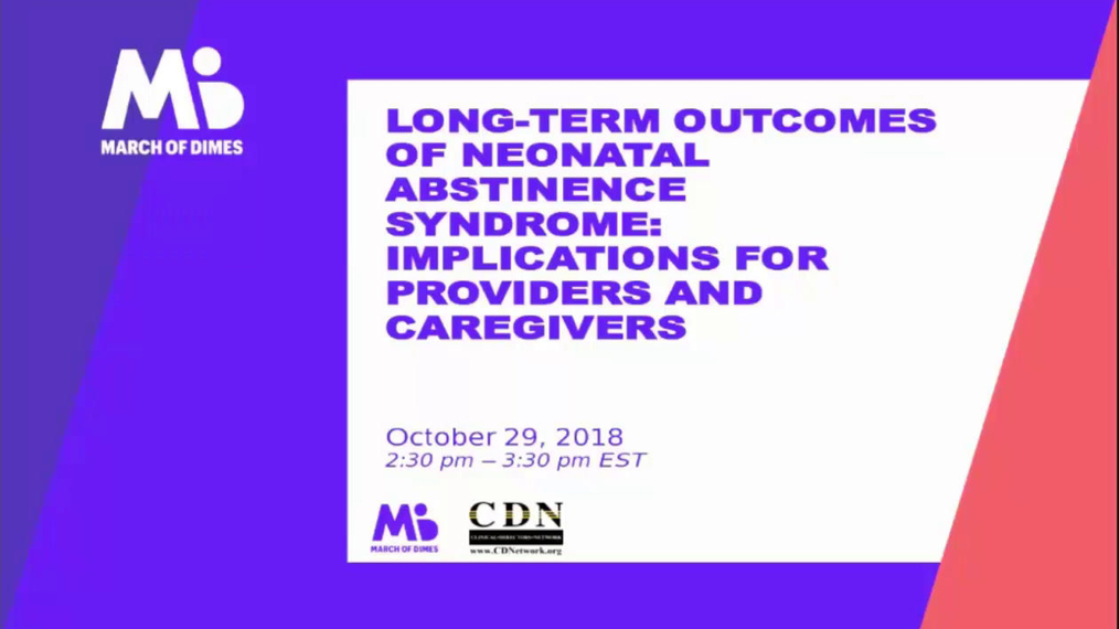 Long-Term Outcomes of Neonatal Abstinence Syndrome: Implications for Providers and Caregivers.10/29/2018