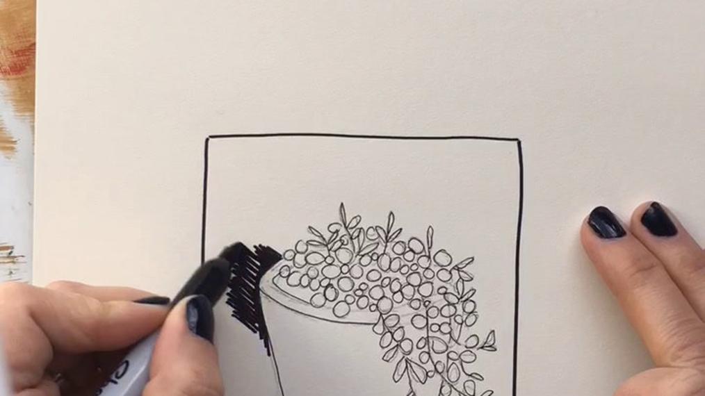 Ink Drawing Sample - Kara Aina