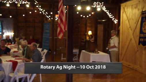 Rotary Ag Night -- 10 Oct 2018