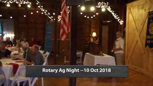 Rotary Ag Night -- 10 Oct 2018
