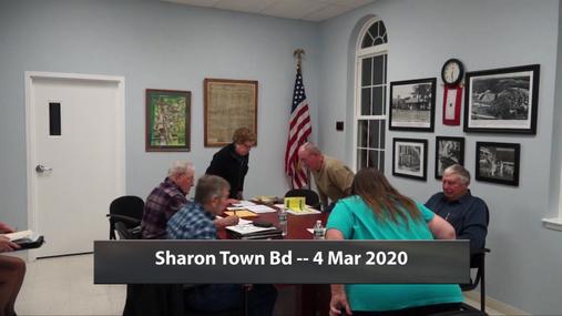 Sharon Town Bd -- 4 Mar 2020