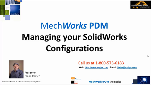 Managing SolidWorks Configurations within MechWorks PDM