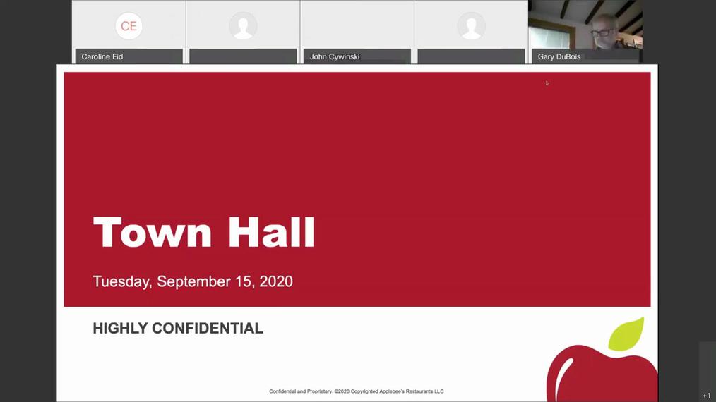 Applebee's Town Hall, September 15, 2020