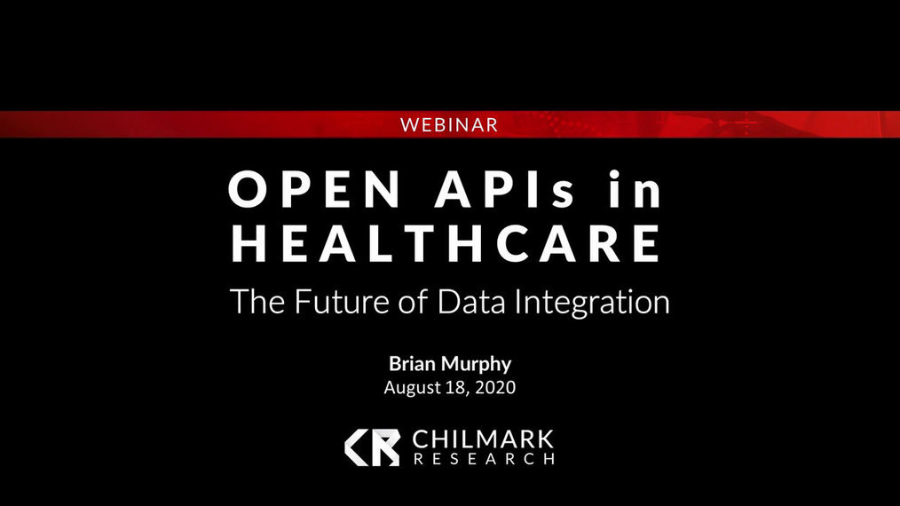Open APIs in Healthcare: The Future of Data Integration - August 2020