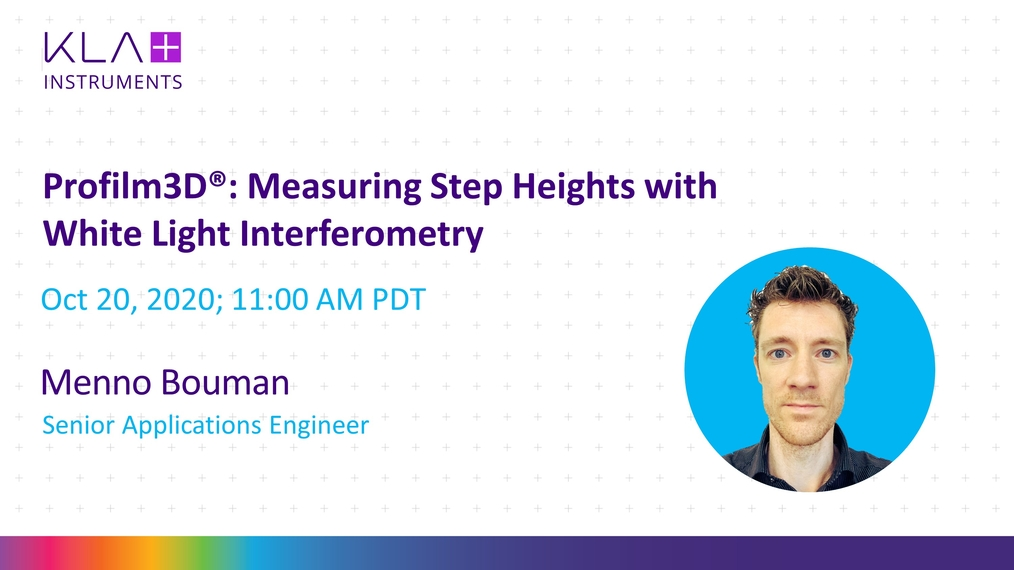 Profilm3D : Measuring step heights with white light interferometry