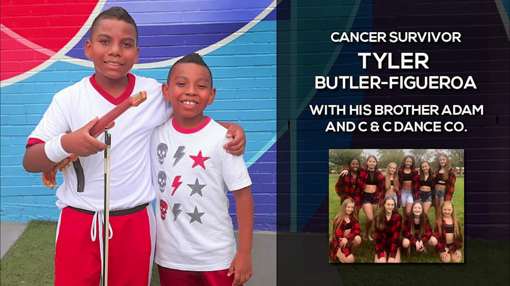 Childhood Cancer Survivor Tyler Butler-Figueroa performs with Adam and C&C Dance Co.