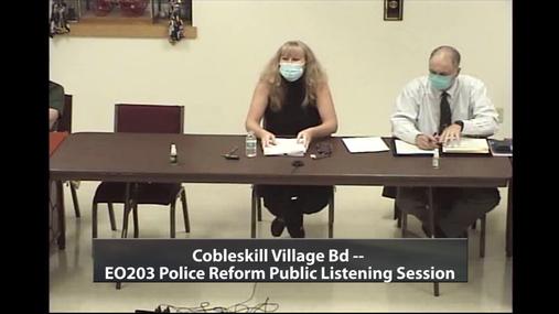 EO203 Police Reform Public Listening -- Cobleskill Village -- 1 Oct 2020