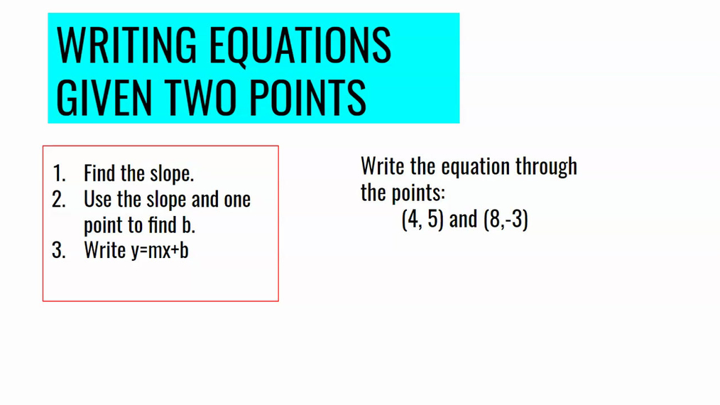 Writing Equations Given Two Points.mp4