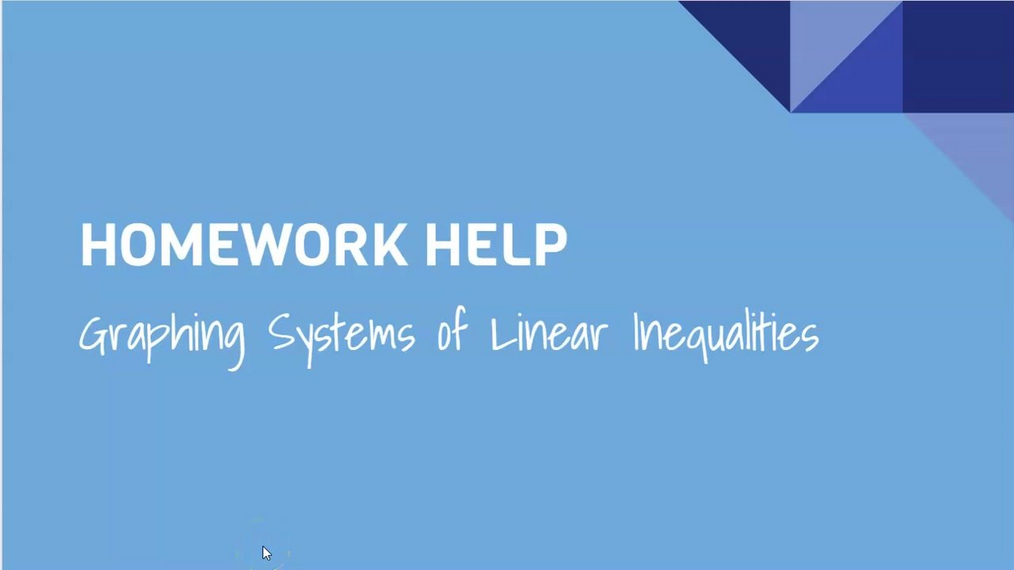 HH Graphing Systems of Linear Inequalities.mp4