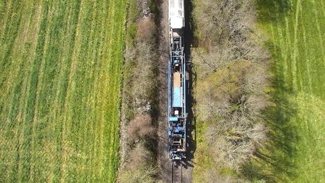 New Track Construction train