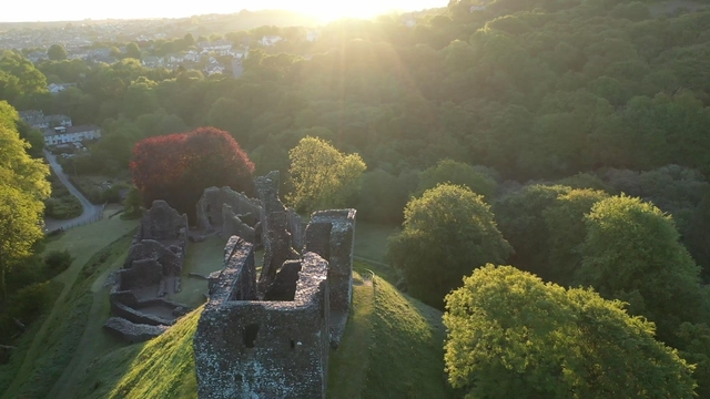 Okehampton Castle – a bird's eye view