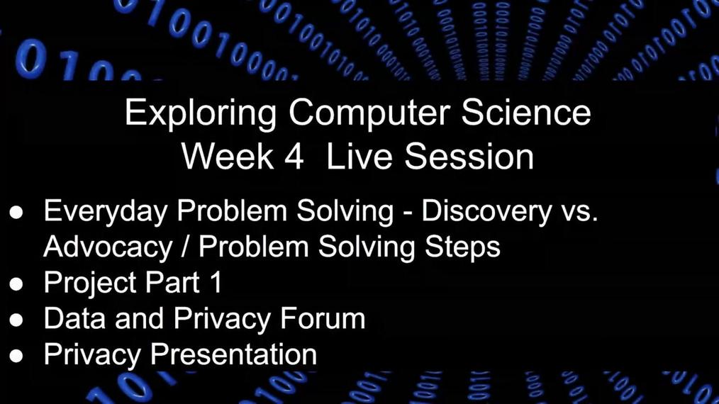 Problem Solving Live Session