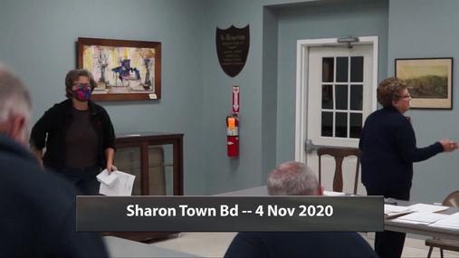 Sharon Town Bd -- 4 Nov 2020