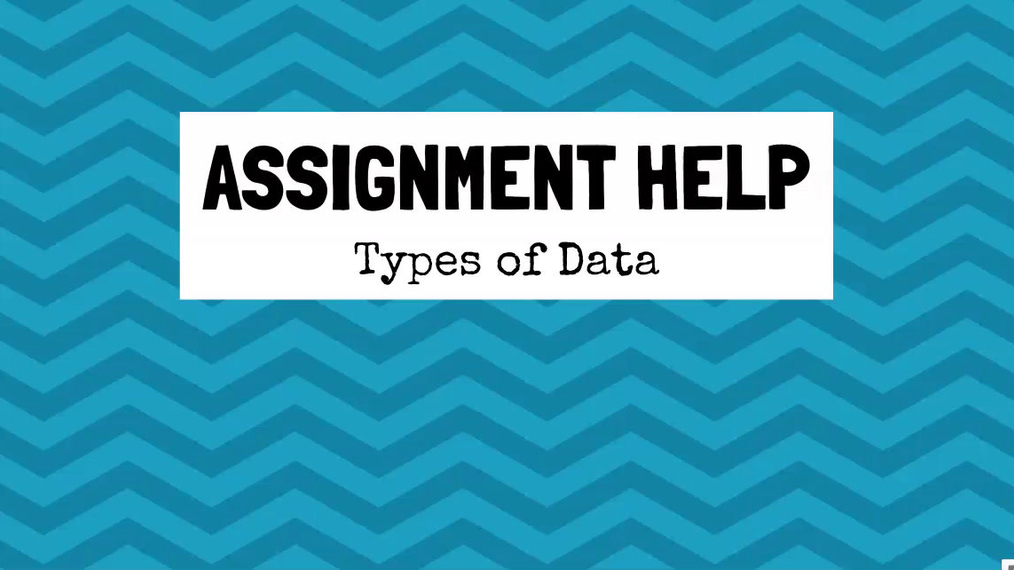 Assignment Help Types of Data.mp4