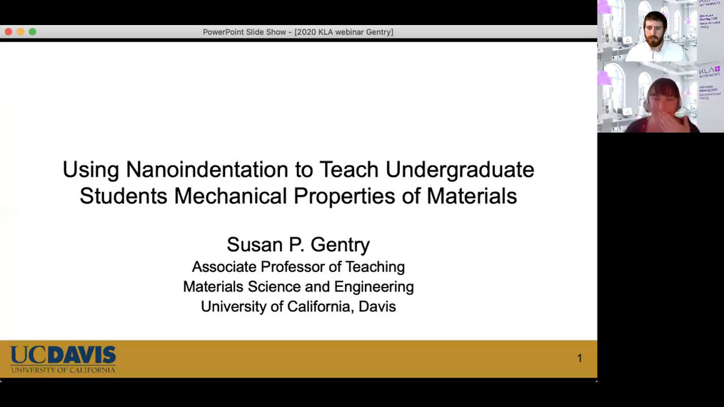Using Nanoindentation to Teach Undergraduate Students Mechanical Properties of Materials