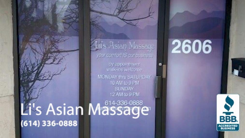 Deep Tissue Massage in Columbus OH, Li's Asian Massage