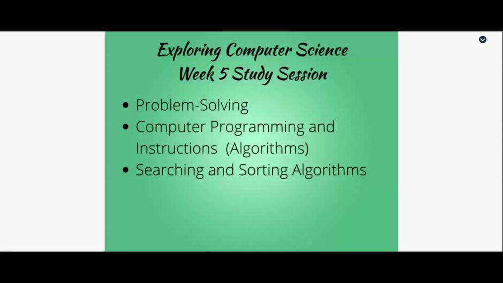 Algorithms - Week 5 Live Session