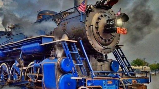 Steam-engine at work