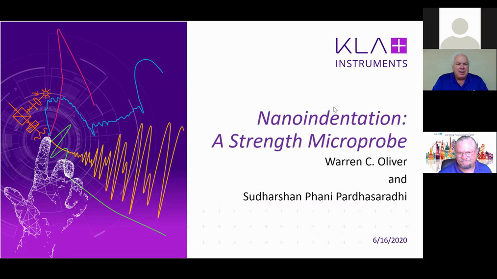 Dr. Warren Oliver: Nanoindentation: A Strength Microprobe