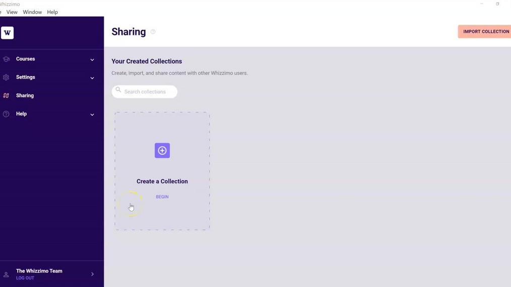 Sharing Page