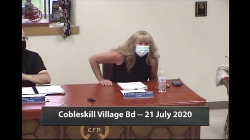 Cobleskill Village Bd -- 21 July 2020