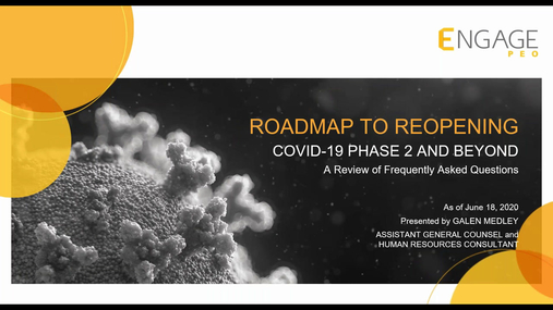 Roadmap to Reopening: COVID-19 Phase 2 and Beyond