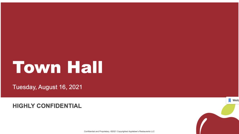 Applebee's Town Hall, August 17, 2021