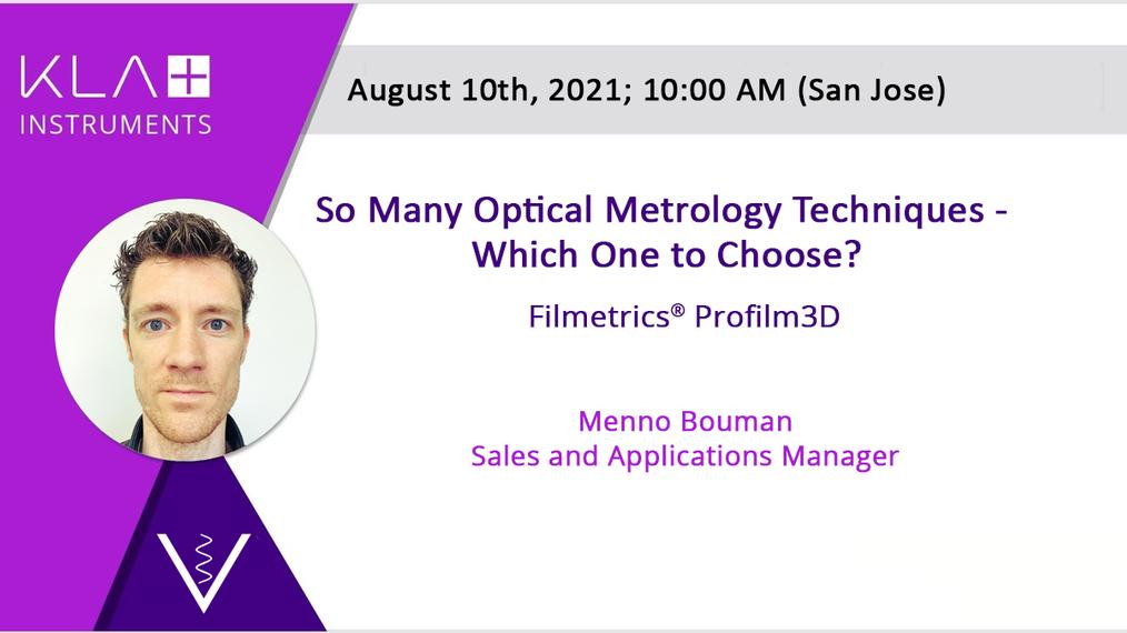 Profilm3D Optical Techniques