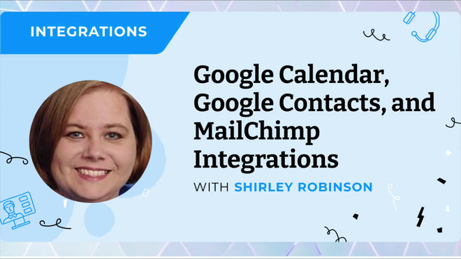 Google Calendar, Google Contacts, and MailChimp Integrations New Interface