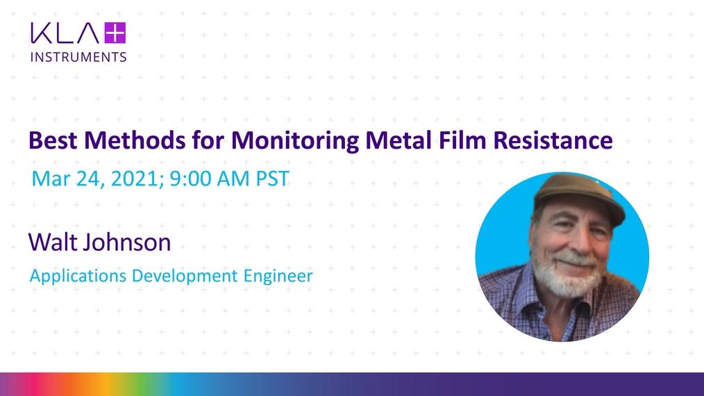 Best Methods for Monitoring Metal Film Resistance