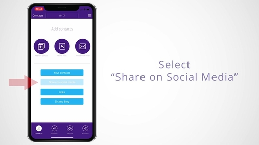 Sharing Social Media Assets on Zinzino Mobile App