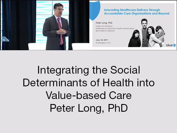 The Tenth National Accountable Care Organization Aco Summit Collocated With Macra Summit Iv And Bundled Payment Summit Ix Integrating The Social Determinants Of Health Into Value Based Care Peter Long Phd