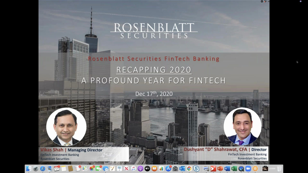 Rosenblatt Banking Group's Invitation to a Special Webinar 'Recapping 2020_ A Profound Year for the FinTech Sector'.mp4