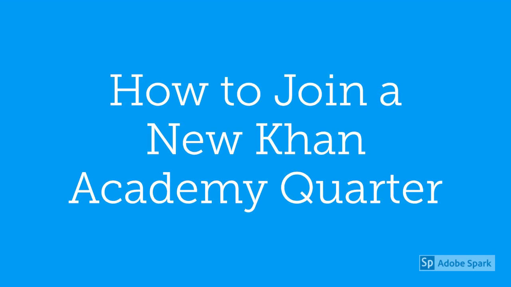 Math 7 How to Add a New Course in Khan Academy
