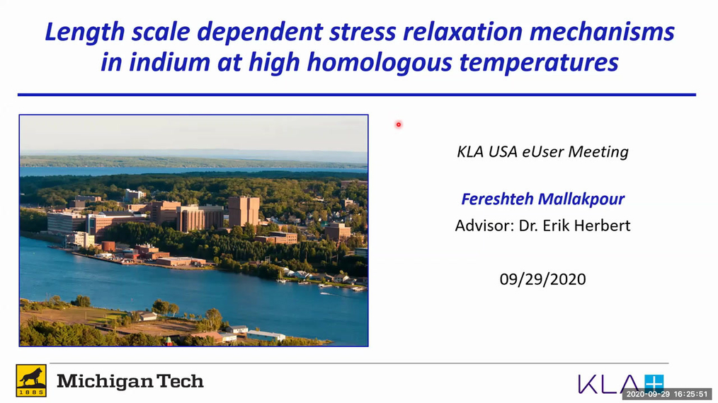 Length scale dependent stress relaxation mechanisms in indium at high homologous temperatures