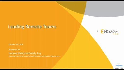 October 2020 HR Webinar - Leading Remote Teams