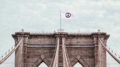 The flag of the peace